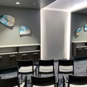 art hung in a hospital waiting room