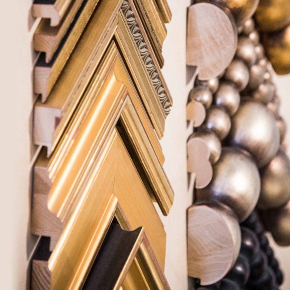 example of moulding that can be used on art chosen by our corporate art consultants