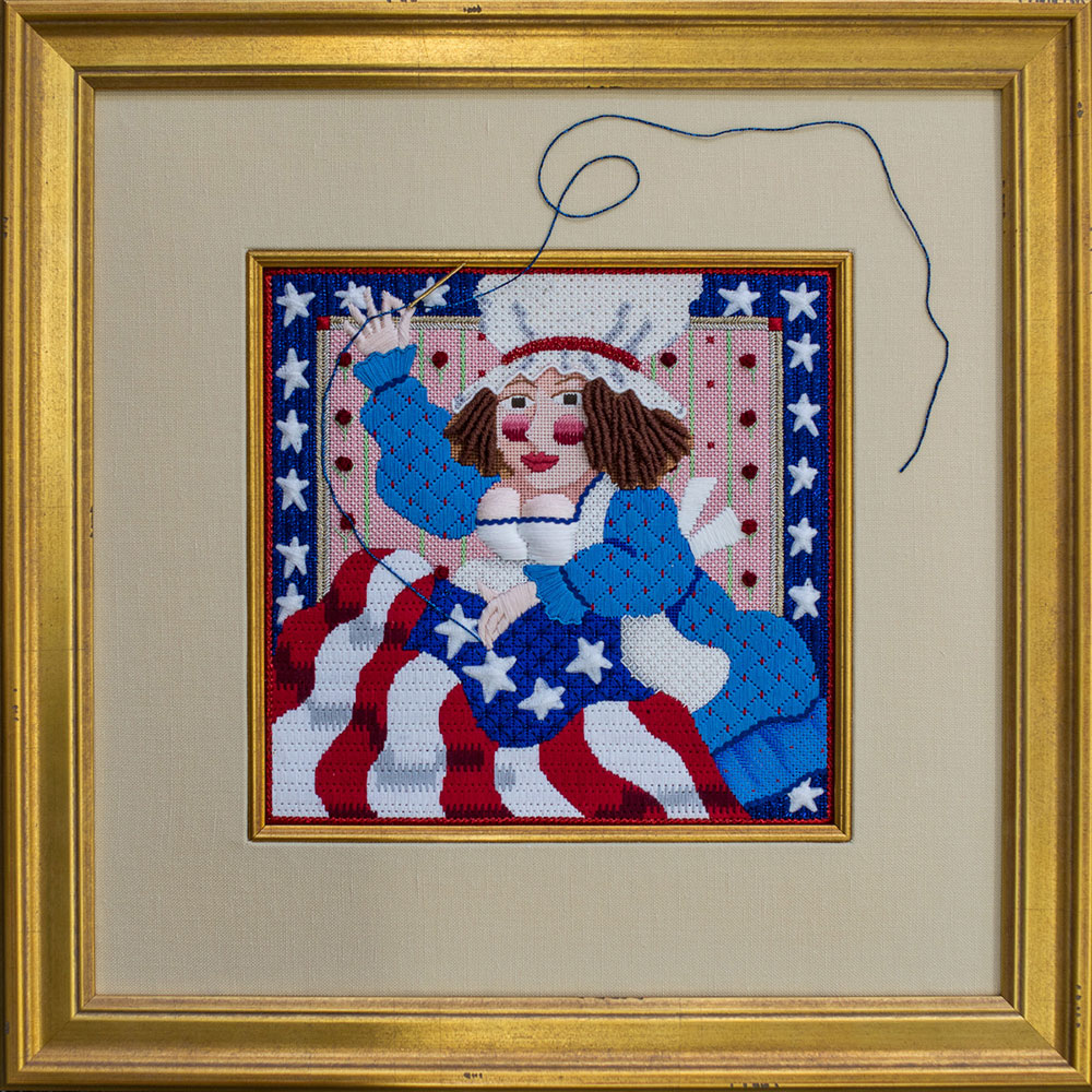 Betsy Ross-inspired item finished in our frame shop