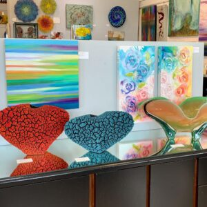glasswork on display at T Clifton Gallery & Framing