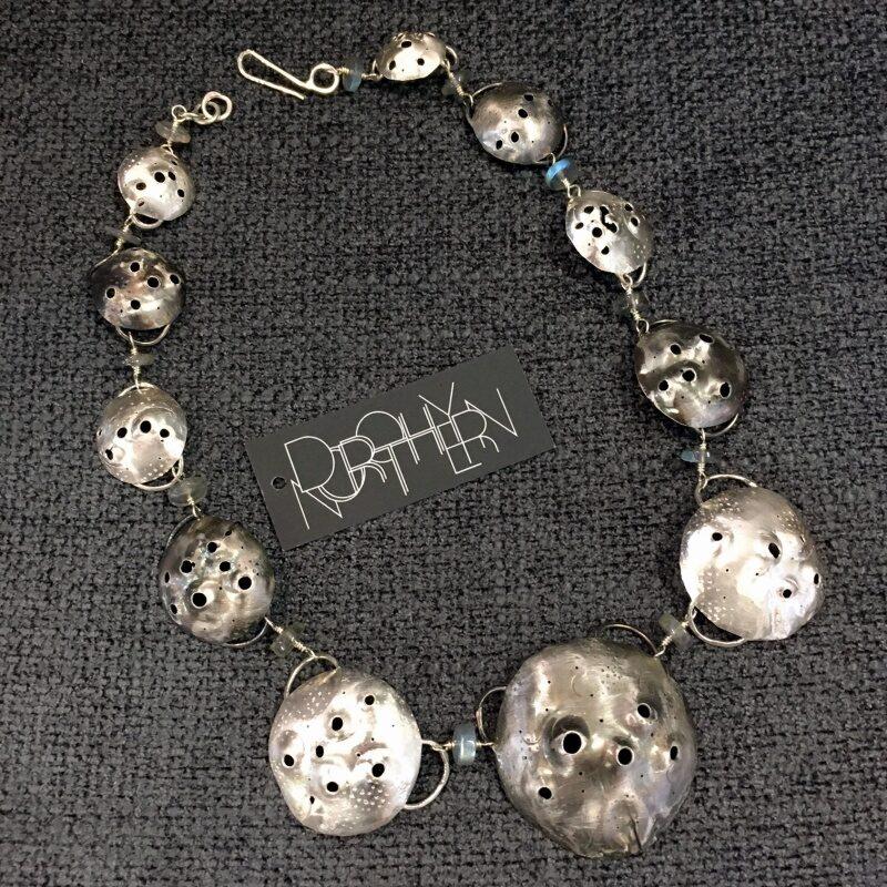 Constellation silver necklace