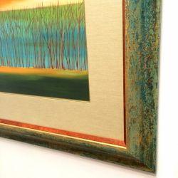 Mary Johnston art print with custom designed framing