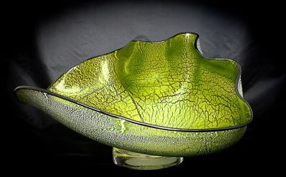 "Thai Signature Bowl ~ Celedon with silver accents ~ 19"" x 14"" x 9"" ~ $650"