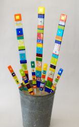 Garden stakes by Hands on Art Glass ~ $26 and $88